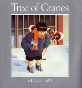 A Japanese Boy Learns of Christmas when his mother decorates a pine tree with paper cranes.
